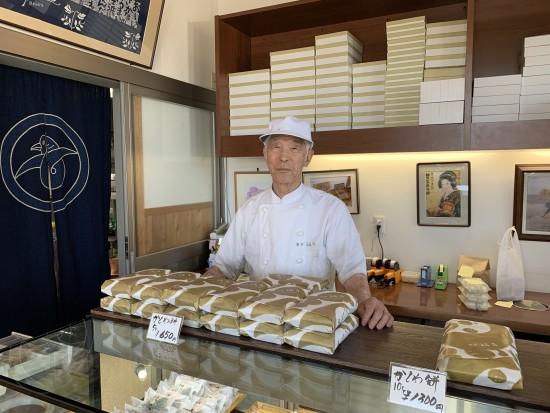 ■菓匠・梅月3代目 片寄清次さん。現在89歳