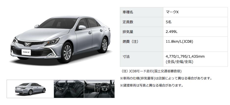 トヨタ マークX MarkX 2016発売モデル